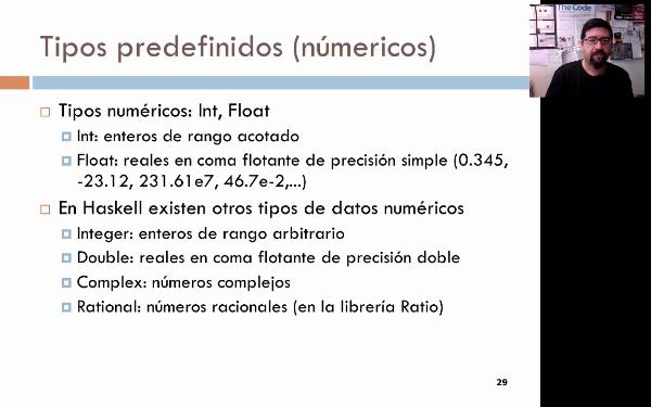 Tema 3. Programación funcional: los tipos predefinidos numéricos