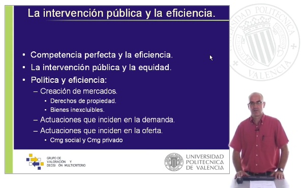 La intervención pública y la eficiencia