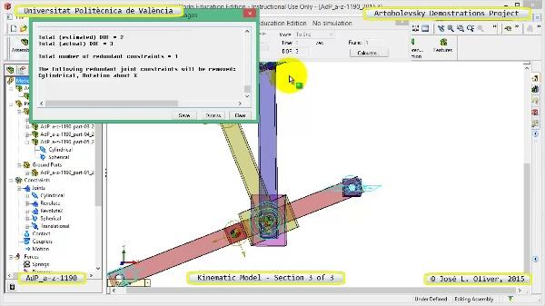 Simulación Mecanismo a-z-1190 con Cosmos Motion - 3 de 3