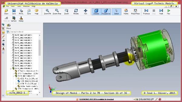 Creación Virtual Modelo Lego Technic 8862-1 ¿ Piezas 2 a 70 ¿ 11 de 36