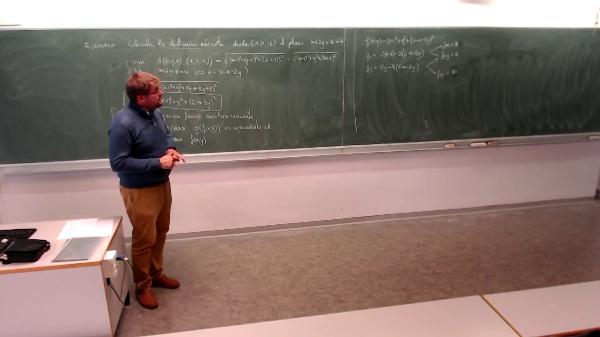 Matemáticas I-32-1-Ejemplo Calcular la distancia mas corta desde el plano