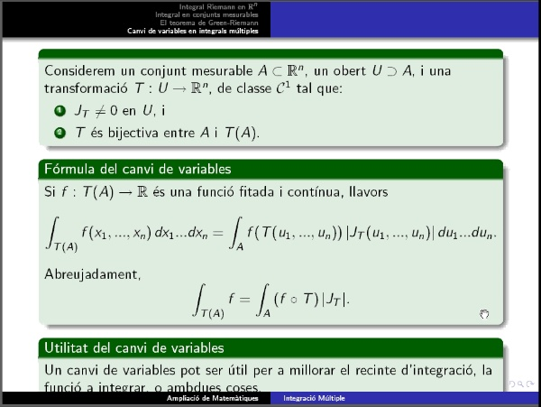 Canvi variables