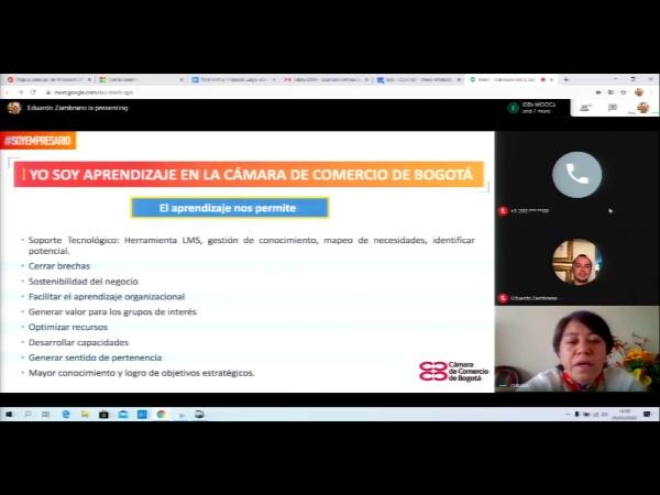 SPOC Gestión de MOOC. Cámara de comercio de Bogotá. Temática para cursos