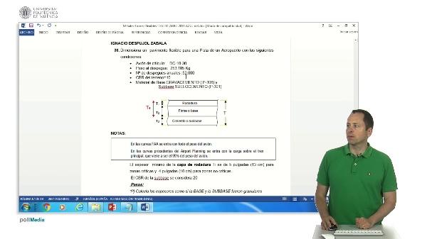 Cálculo de firmes flexibles para pistas de aterrizaje