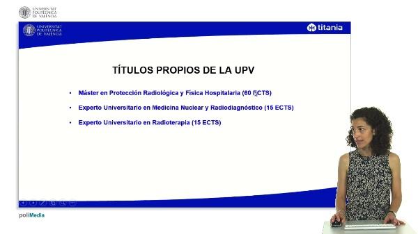 Presentación títulos en materia Protección Radiológica y Física Hospitalaria