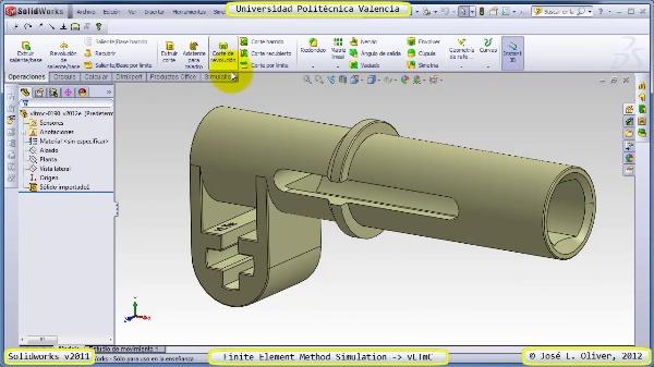 Análisis Estático Componente Lego Technic con Solidworks 2011
