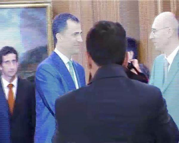 El Príncipe recibe a la Asociación de Antiguos Alumnos UPV