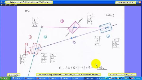 Simulación Mecanismo a_z_1196 con Cosmos Motion - 2 de 4