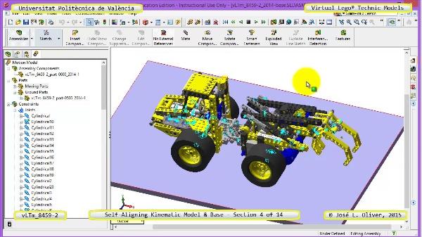 Simulación Dinámica Lego Technic 8459-2 sobre Base ¿ 04 de 14