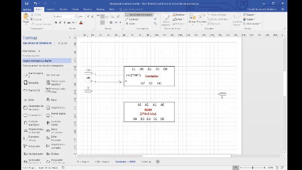 DSD - Tema 5 - Implementación con codificación S=Q(t), contador reversible con carga en paralelo y memoria ROM