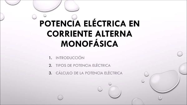 Potencia en corriente alterna monofásica