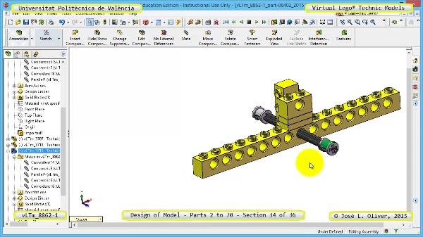 Creación Virtual Modelo Lego Technic 8862-1 ¿ Piezas 2 a 70 ¿ 34 de 36