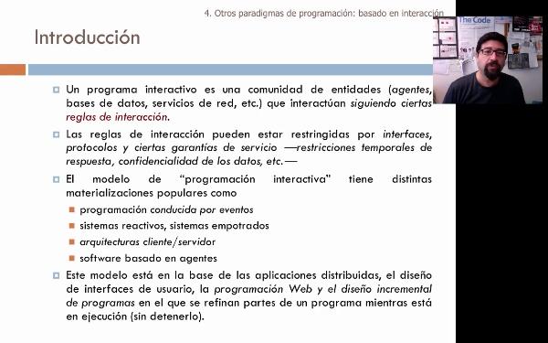 Tema 1. Paradigma basado en interacción