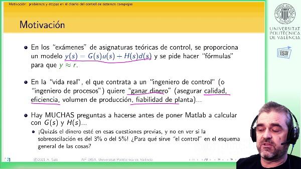 Control de sistemas complejos: etapas y papel de la Ingeniería de Sistemas y Automática