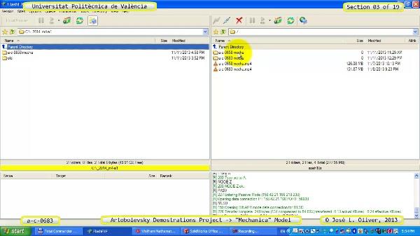 Simulación Mecanismo a_c_0683 con Mechanica - 08 de 19