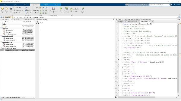 Tareas a realizar en Matlab para la memoria de la práctica 2 de CIPQII