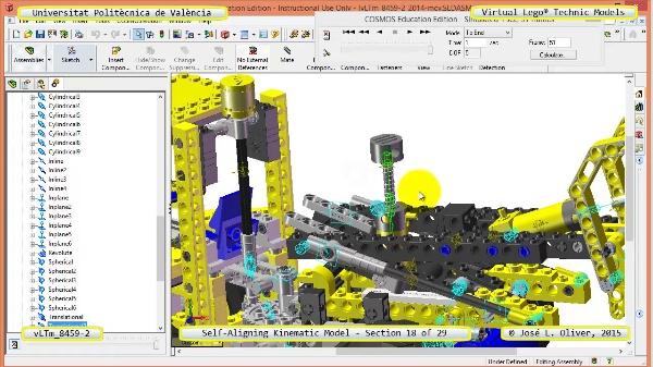 Simulación Cinemática Lego Technic 8459-2 con Cosmos Motion ¿ 18 de 29