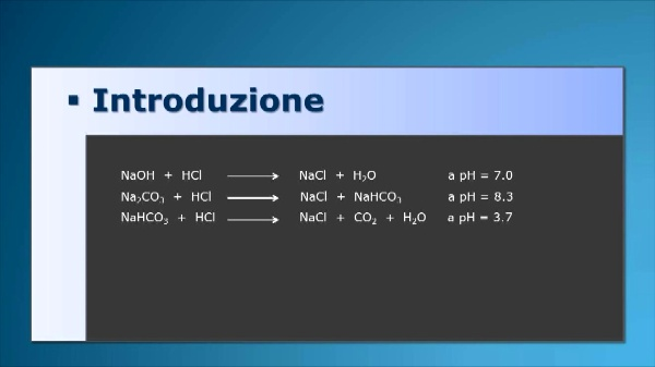 Determinazione di idrossido sodico e carbonato sodico in una solucione alcalina