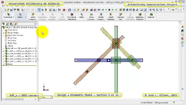 Creación Virtual y Simulación Mecanismo a-z-1093 con Cosmos Motion - 09 de 11