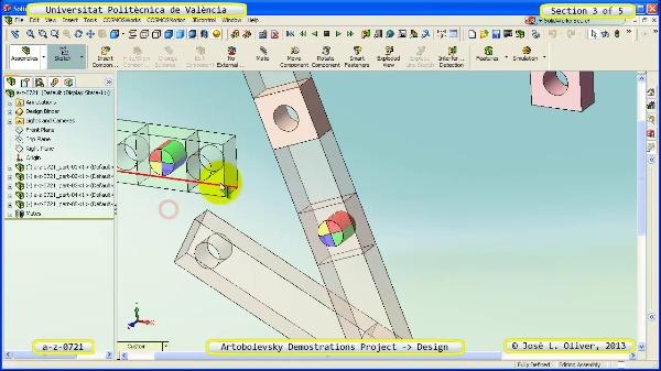 Creación Virtual Mecanismo a_z_0721 con Solidworks - 3 de 5