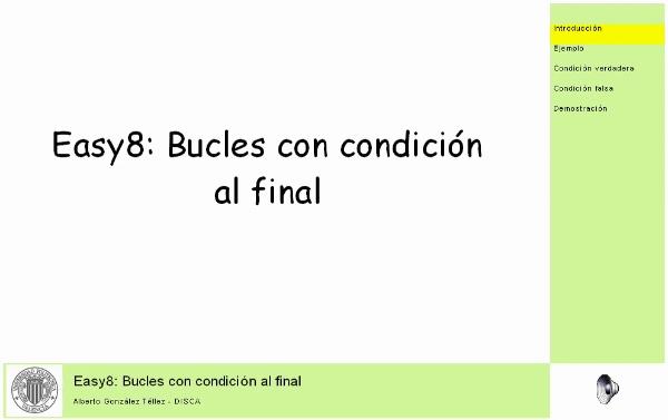 Easy8: Bucles con condición al final