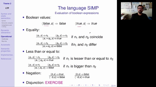 LTP - Unit 2 - Operational semantics of expressions