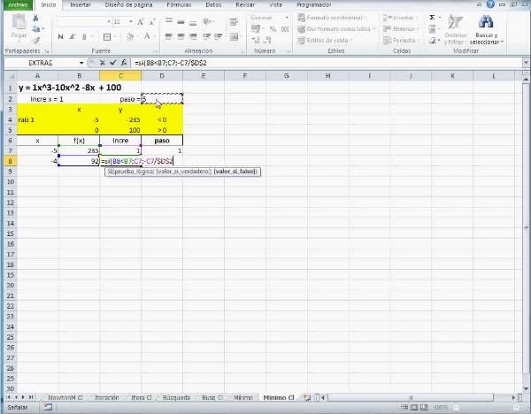 MN-EA-09-22 Método del Mínimo en Excel