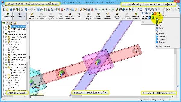 Creación Virtual Mecanismo a-z-1196 con Solidworks - 4 de 6