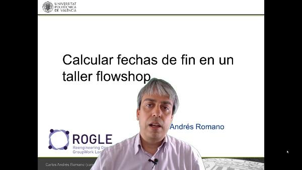 Cálculos de fechas de fin en un flowshop