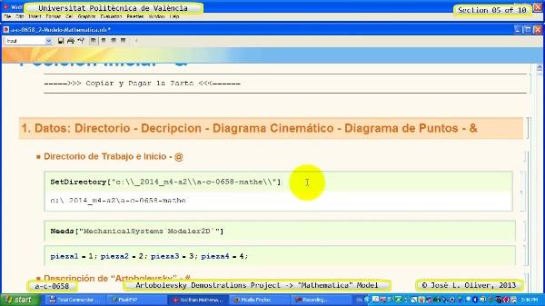 Solución Cinemática Simbólica a_c_0658 con Mathematica -A- 05 de 10