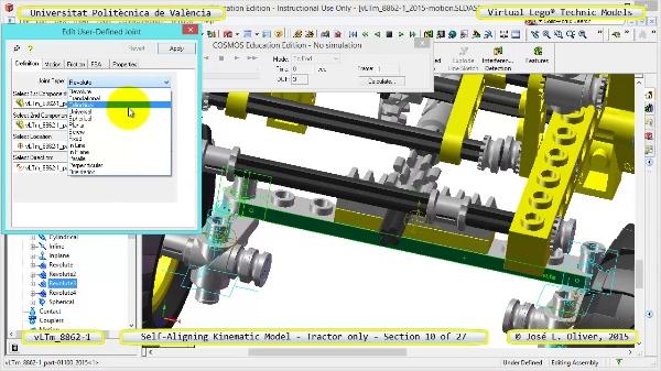 Simulación Dinámica Lego Technic 8862-1 - Tractor - sobre Base - 10 de 27