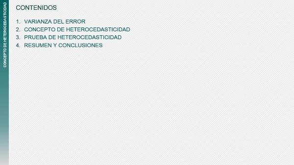Concepto de Heterocedasticidad