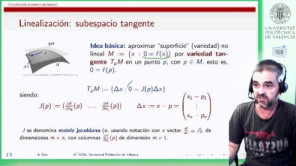 Linealización de sistemas dinámicos y paso a representación normalizada
