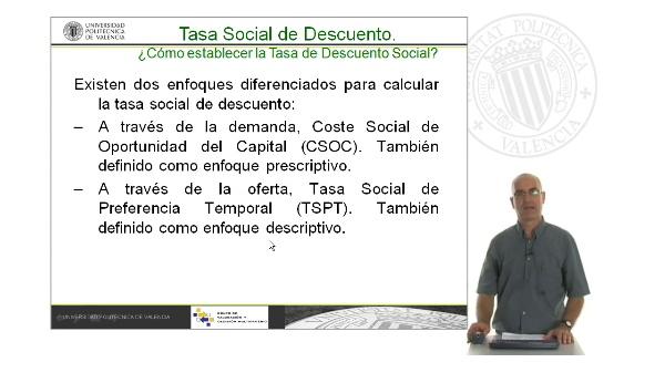 B05. La Tasa de Descuento Social. Oferta y Demanda