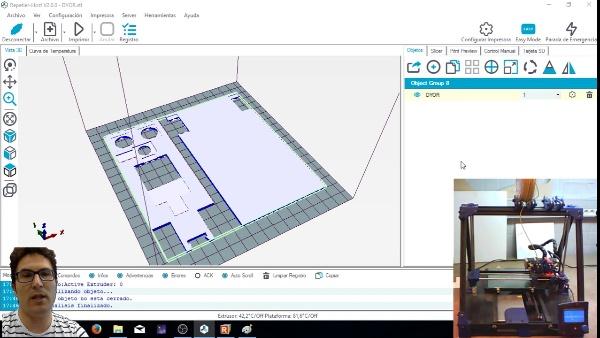 Configuración de un trabajo de impresión 3D con Repetier-Host