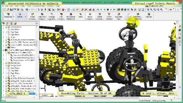 Creación Virtual Modelo Lego Technic 8862-1 ¿ Montaje Modelo ¿ 38 de 44