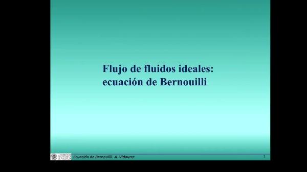 Ecuación de Bernouilli