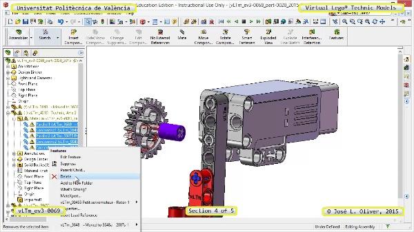 Creación Virtual Modelo Lego Technic - Isogawa ¿ ev3-0069 ¿ 4 de 5