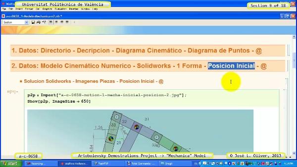 Simulación Mecanismo a_c_0658 con Mechanica - 09 de 18