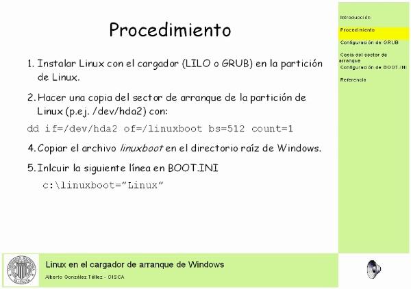 Linux en BOOT.INI