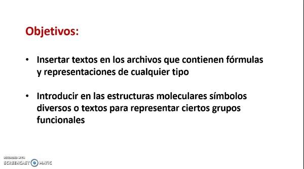 ChemSketch. Inserción de textos