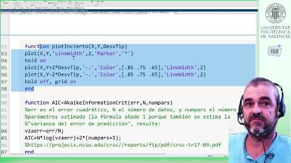 Identificación de la respuesta impulsional de un sistema LTI discreto: regularización principal component regression (PCR, Matlab)