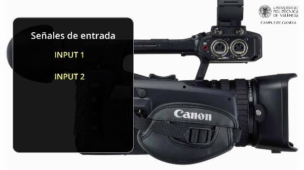 Videocámara Canon XF200 - Grabación de sonido