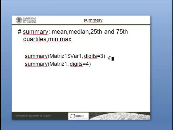 R: Estadísticos descriptivos: (medias, percentiles)