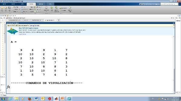 Comandos de Visualización en Matlab