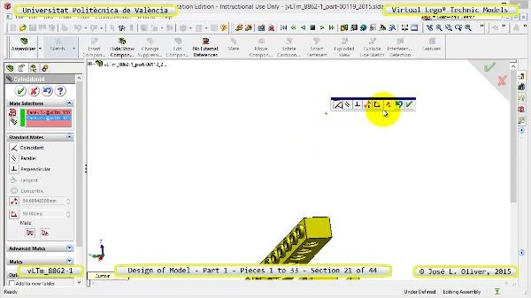 Creación Virtual Modelo Lego Technic 8862-1 ¿ Pieza 1 ¿ 21 de 44