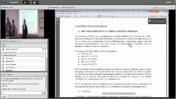 Máster Dº Concursal. Presentación Libro Derecho Concursal Bancario