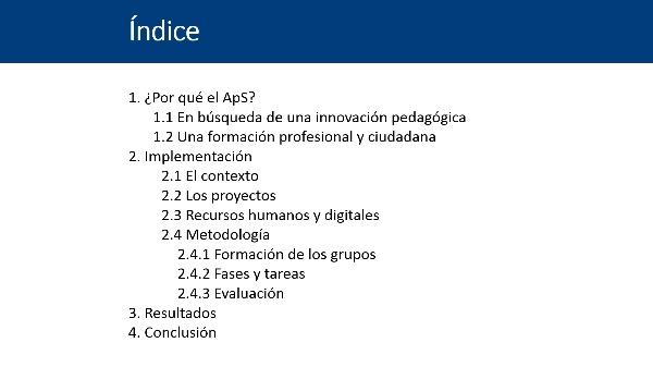 El aprendizaje-servicio en lenguas: innovación e implementación