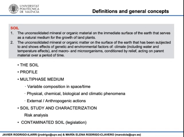 02.13.- The soil. Physical chemical and biological characteristics