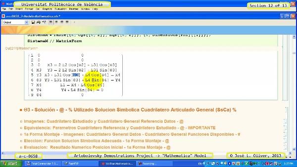 Solución Cinemática Simbólica a_c_0658 con Mathematica -B- 12 de 13